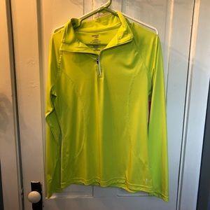 Lime green workout long sleeve shirt